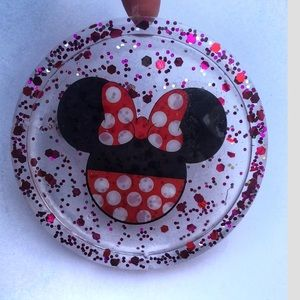HANDMADE Minnie Mouse Glitter Coaster, Disney